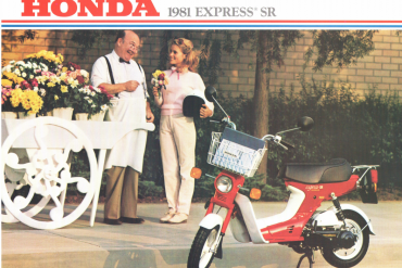 Honda USA 1981 Express SR - Scooter Sales Brochures