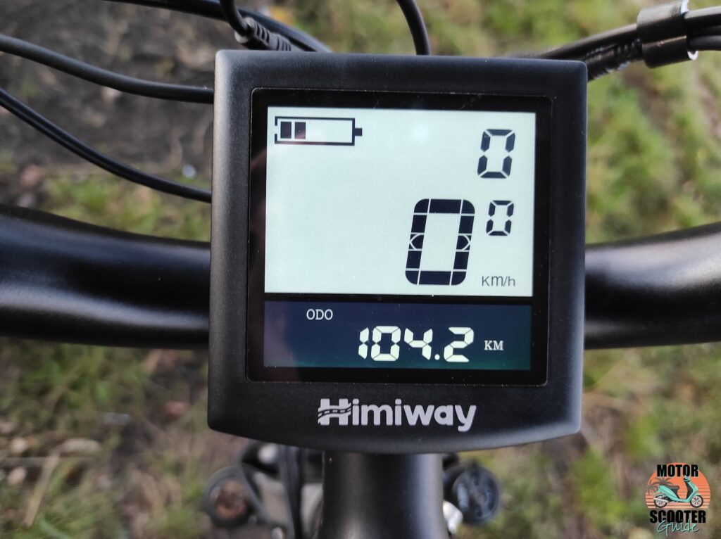 Close-up of 2021 Himiway All-Terrain Cruiser instrument panel