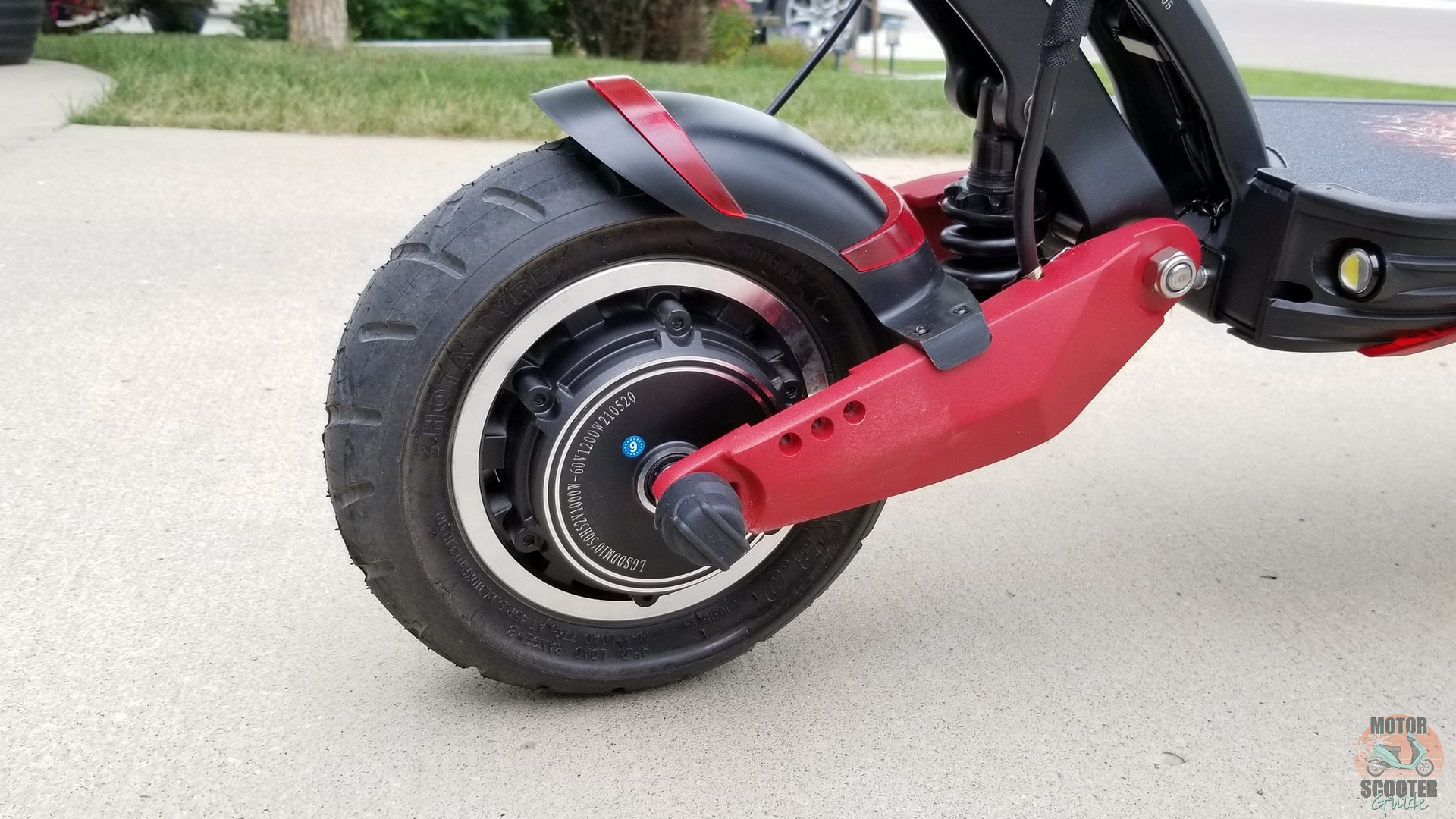 Rear 1000w hub motor on the Eagle One scooter