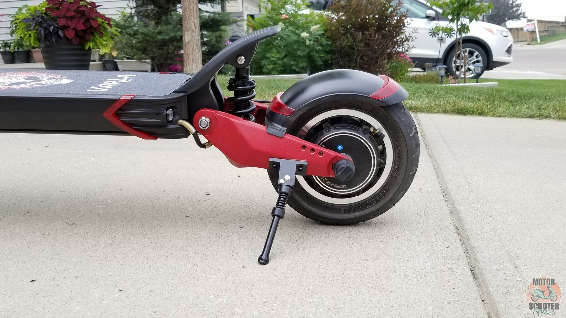Eagle One scooter with kickstand in position
