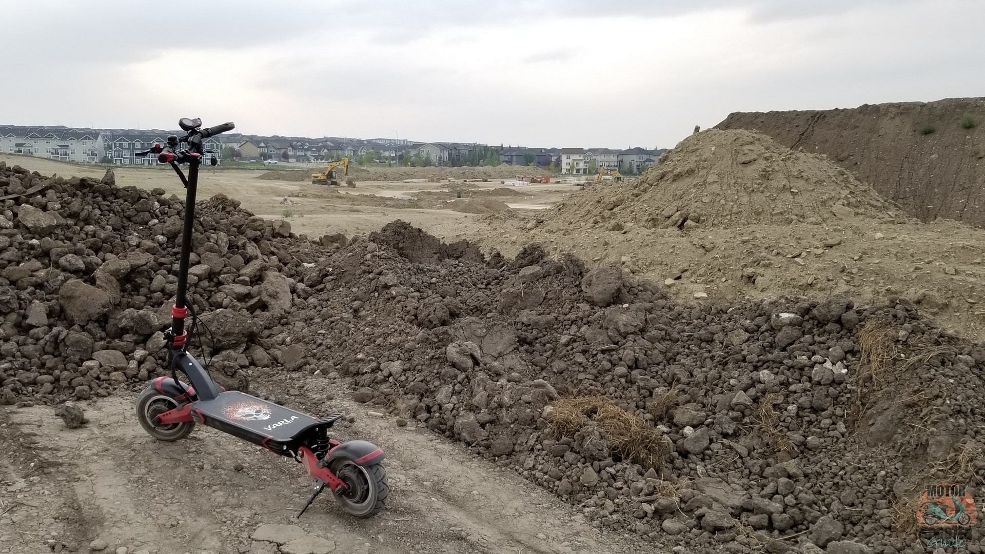 Eagle One scooter in dirt construction area